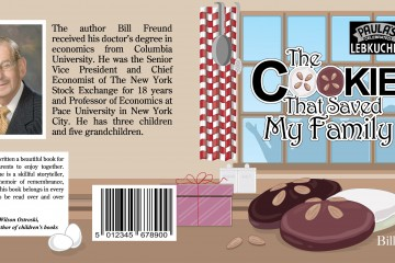 Custom book cover Illustration for a book about a cookie reciepe that survived through world war two and out of germany