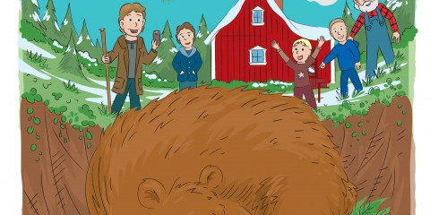 The book cover for the great big bear is a picture book for kids about safety the woods and also a learning book about bears