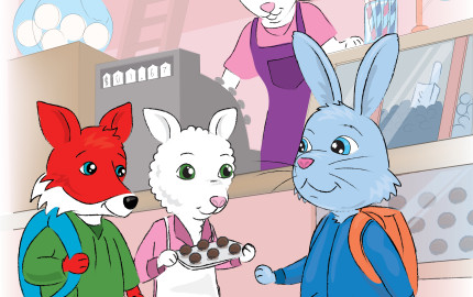 Robby Rabbit Childrens book about a rabbit is supposed to buy a new coat but he spends the money on candy and feels guilty
