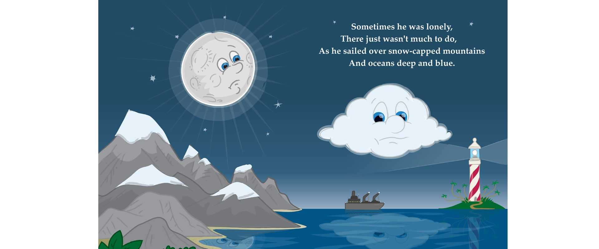 Stormy picture book art